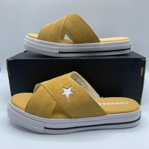 NEW Converse One Star Womens Sandals Sz 8.5 Yellow